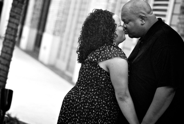City Center Engagement Photo Shoot