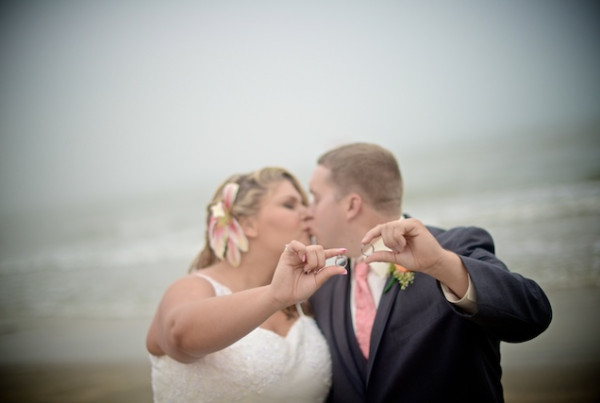Galveston Beach Wedding - Galveston Seawall